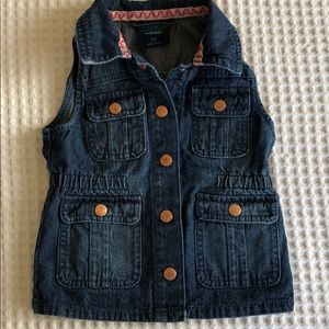 Lone denim vest with cinched waist